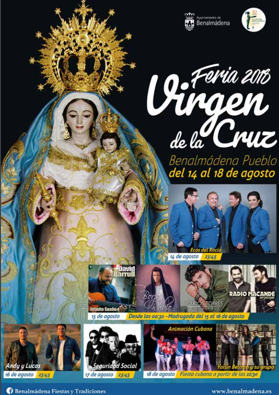 cartel feria virgen de la cruz Benalmádena Pueblo