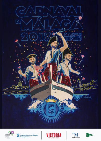 Cartel del Carnaval de Málaga 2017