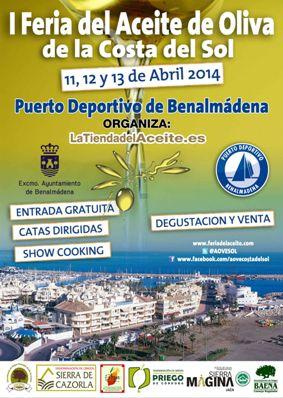 Cartel Feria del Aceita de Oliva Costa del Sol en Benalmádena
