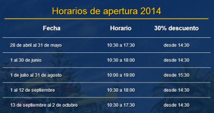 Horario Parque Acuatico de Mijas