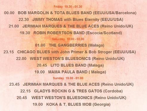 Actuaciones en el Festival Internacional de Blues de Mijas