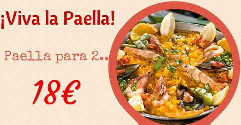 Paella para 2 - solo 18 Euros