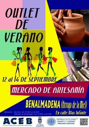 Cartel Outlet de verano Benalmádena