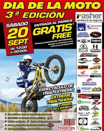 Cartel Día de la moto en Tivoli World
