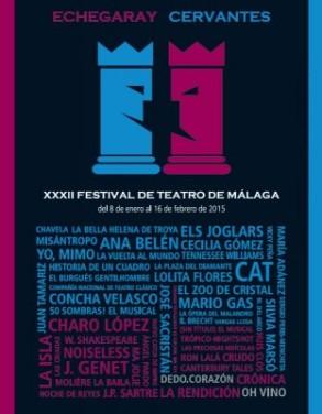 Cartel Festival de Teatro de Málaga 2015
