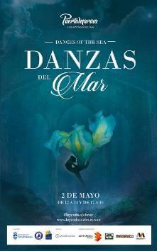 Cartel de Danzas del Mar - Puerto Marina