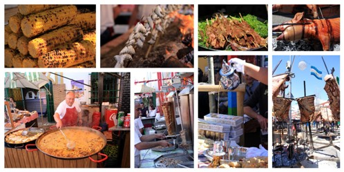 Comida en la Feria Internacional de los Pueblos en Fuengirola