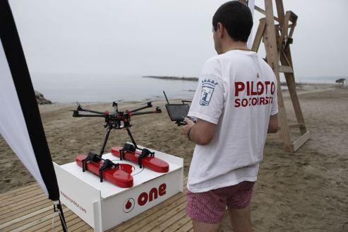 Dron para vigilancia de playa en Benalmadena