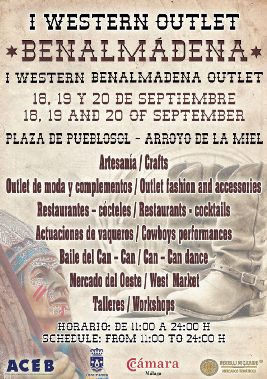 Cartel Western Outlet Benalmádena