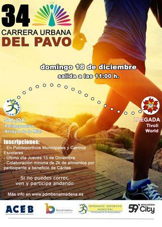 Cartel de Carrera del Pavo 2016 - Arroyo de la Miel