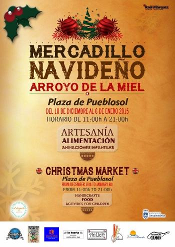 Cartel del Mercado Navideño en Arroyo de la Miel