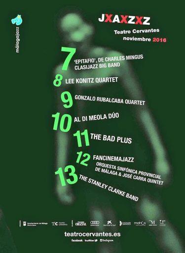 Cartel del Festival Internacional de Jazz de Málaga