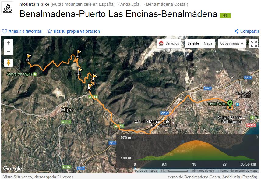 Ruta en Bicicleta en Benalmádena