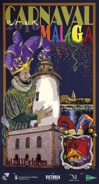 Cartel Carnaval de Málaga 2018