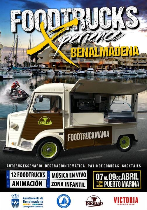 cartel del food truck experience en Benalmadena