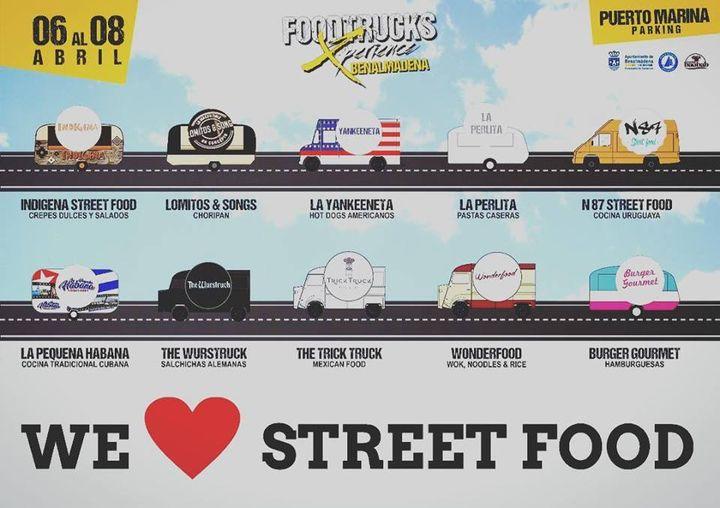 Los diferentes foodtrucks que estaran en Foodtruck Experience Benalmadena