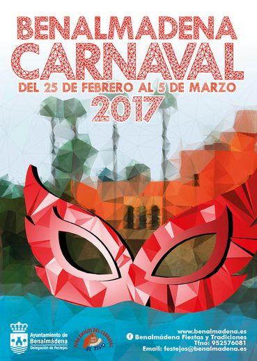 Cartel del Carnaval de Benalmadena 2017