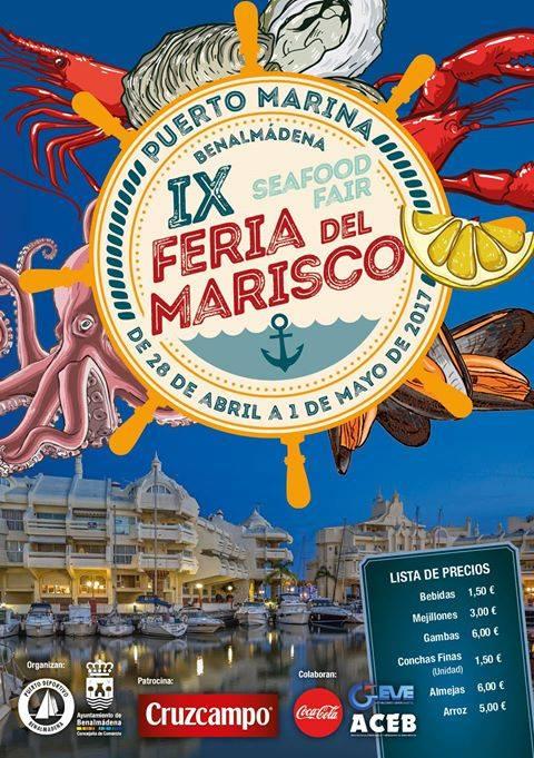 cartel feria del marisco Benalmádena
