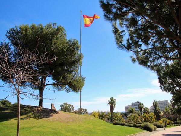 Bandera de españa en Parque la Paloma
