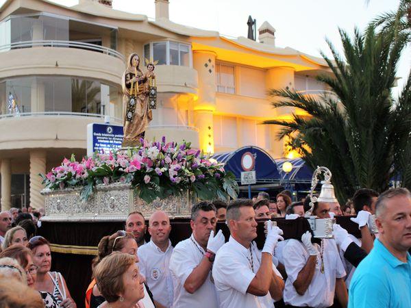 Procesión de Virgen del Carmen en Benalmádena