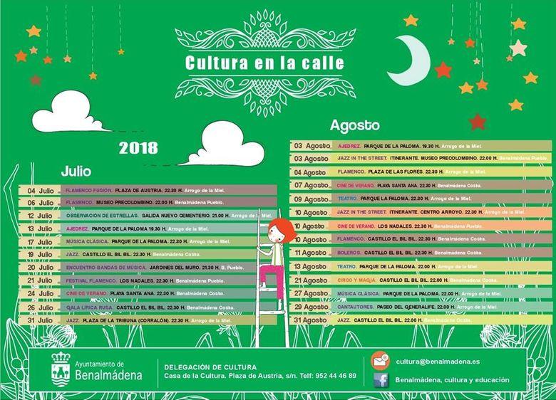 Programa Cultura en la Calle Benalmadena 2018