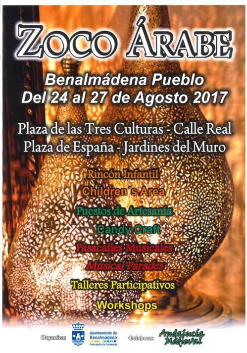 Cartel del Zoco Arabe de Benalmádena Pueblo