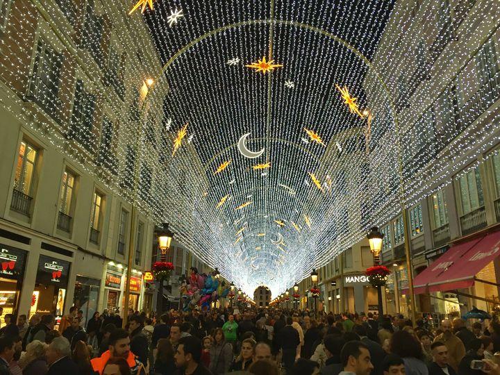 Luces de Navidad en Málaga