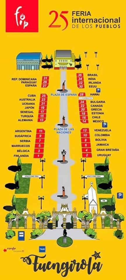 Mapa de las casetas- Feria de los Pueblos de Fuengirola 2019