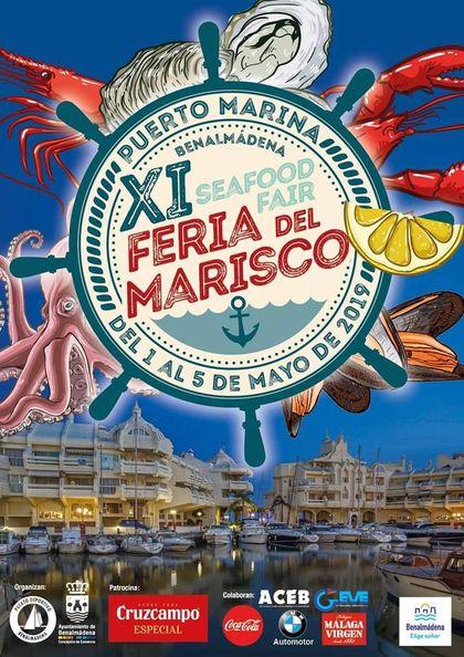 Cartel de la Feria del Marisco Benalmadena 2019