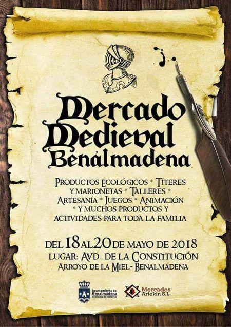Cartel del mercado medieval de Benalmádena