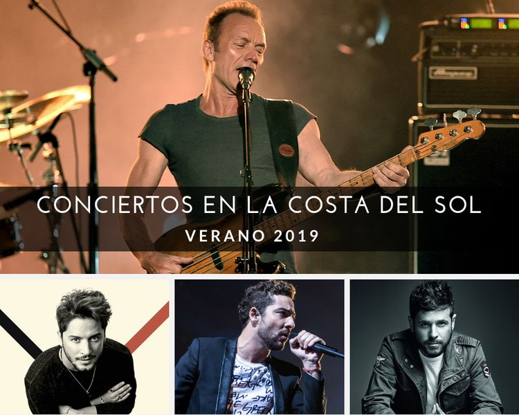 Lista de conciertos este verano en la Costa del Sol