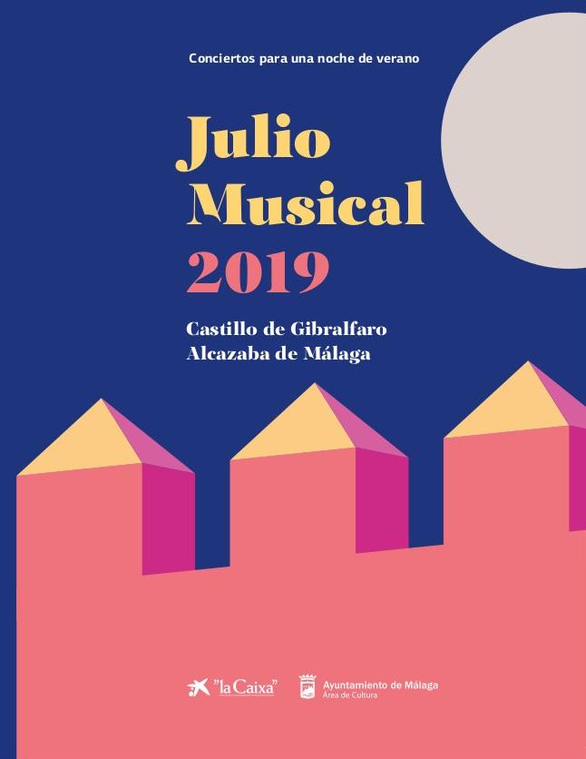 Cartel Julio Musical 2019 Malaga