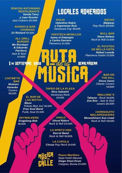 Cartel Ruta de la Música Benalmádena