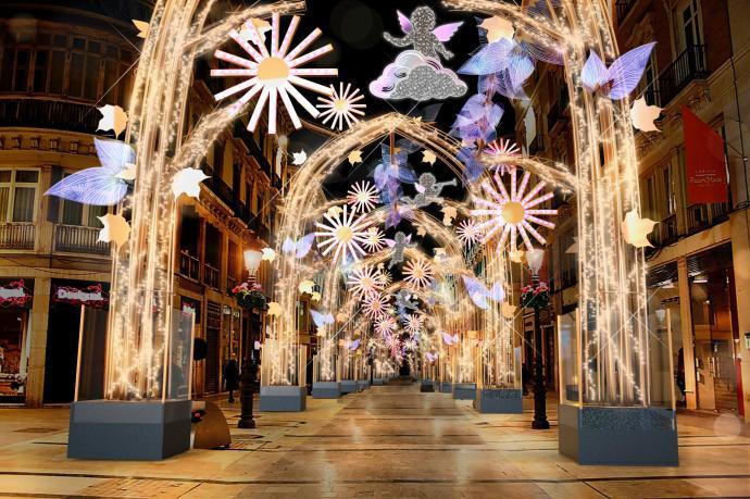 Luces de Navidad en Malaga 2019