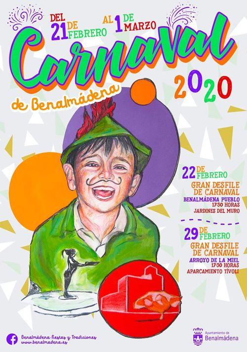 Cartel Carnaval de Benalmadena 2020