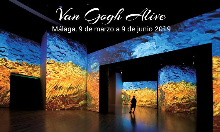 Van Gogh Alive - exposición multimedia en Málaga