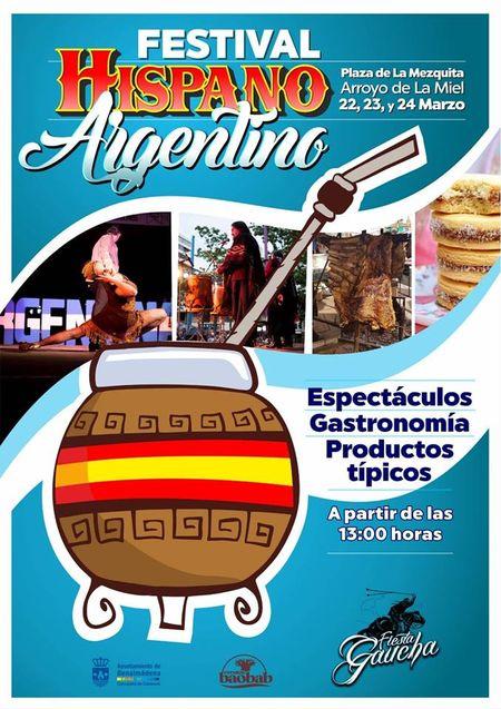 Cartel Festival Hispano Argentino Benalmadena