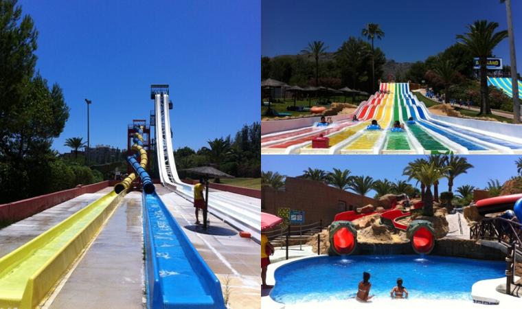 El Parque Acuático Aqualand en Torremolinos