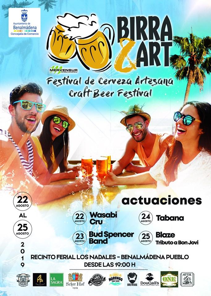 Cartel Festival Birra & Art Benalmádena Pueblo