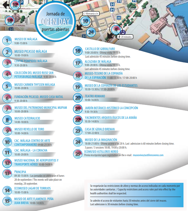 Jornada de Puertas abiertas - Día Mundial del Turismo Malaga 2020