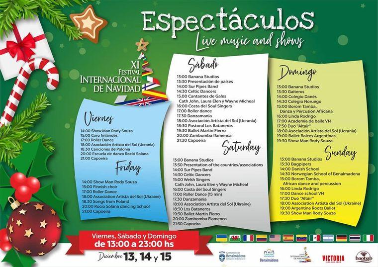 Programación del Festival Internacional de Navidad en Benalmádena